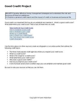 Establishing Good Credit Project