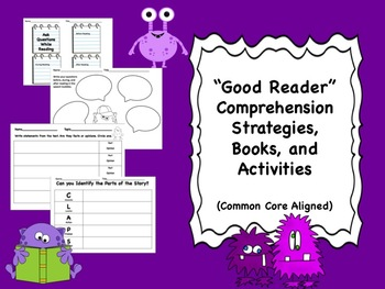 """""""Good Reader"""" Comprehension Strategies, Book Lists, and Activities"""