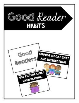Good Reader Habits Poster Set
