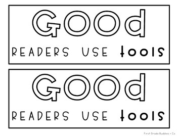 'Good Readers Use Tools' Reading Comprehension Toolkit Sign