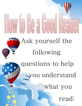 Good Readers - Questions a student should ask themselves.