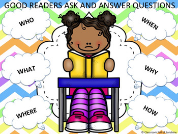 Good Readers Ask and Answer Questions FREEBIE!!!