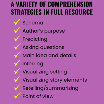 Reading Comprehension Activities for Any Text FREEBIE
