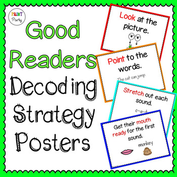 Decoding Strategy Posters | Reading Cards