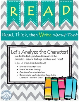 Good Readers Make Inferences and Analyze Characters in Fictional Text