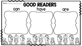 Good Readers & Mathematicians: Can, Have, Are...