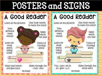 Good Readers Posters for Reading Comprehension - Lower Levels