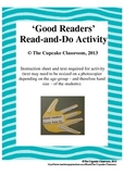 'Good Readers' Read-and-Do Activity - Junior School