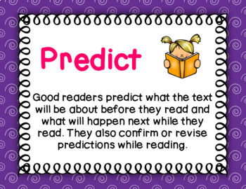 Good Readers Reading Strategies Posters