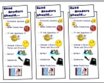 Good Readers Should... Bookmarks