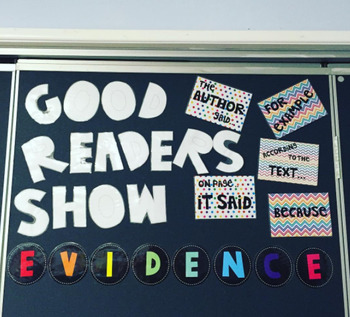 Good Readers Show Evidence Bulletin Board