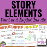 Story Elements Activities for Any Text BUNDLE | Print & Di