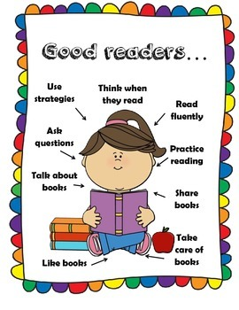 Good Readers Strategies-Una buena lectora (English and Spanish)