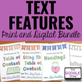Text Features Activities for Any Text BUNDLE | Print & Digital | Google™
