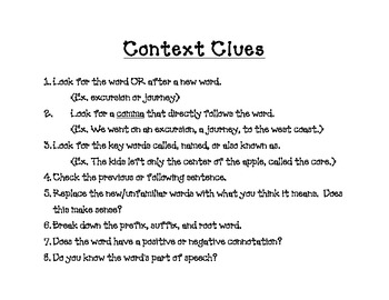 Good Readers Use Context Clues