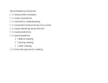 Good Reading Checklist