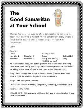 Good Samaritan at Your School - Readers' Theater Plays - early readers