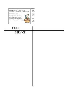 Good/Services Sort