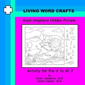 Good Shepherd Hidden Picture for Grades Pre-K to Gr.2