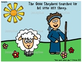 Good Shepherd and sheep craft- Bible story crafts for kids