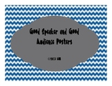 Good Speaker and Good Audience Posters