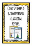 Good Speaker and Good Listener Posters