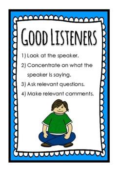 Good Speaker and Good Listener Posters