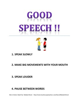 Good Speech Poster  FREEBIE