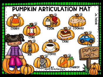 Good Speech, Pumpkin Spice & Everything Nice-An Articulation Packet