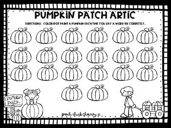 Good Speech, Pumpkin Spice & Everything Nice-An Articulation Packet
