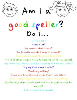 Good Speller Checklist