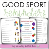 SOCIAL SKILLS Good Sport Reminders  {12 Differentiated Worksheets & Posters}