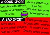 Good Sport Vs Bad Sport Poster - Classroom display