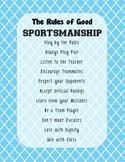 Good Sportsmanship PE