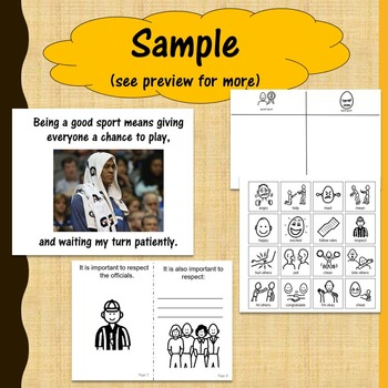 Good Sportsmanship Social Story and Activities