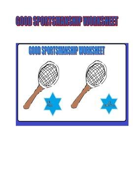 Good Sportsmanship Worksheet