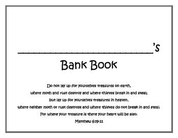 Good Steward Bank Book a Practical Resource for Teaching Kids Money Management