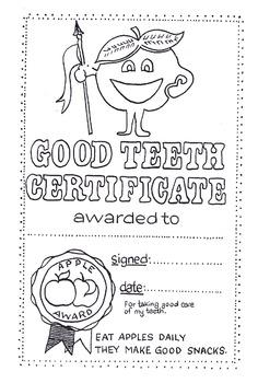 Good Teeth Certificate