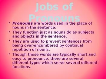 Good Time Grammar Personal Pronouns
