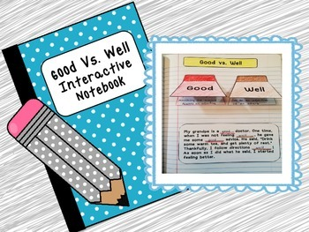 Good Vs. Well Interactive Grammar Notebook Activity
