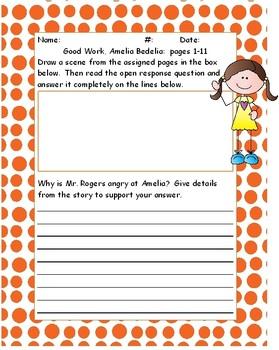 Good Work, Amelia Bedelia Chapter Questions