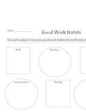 Good Work Habits worksheet