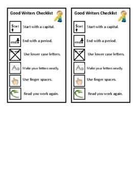 Good Writers Checklist