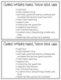 Good Writers Checklist for Creative Writing Journals