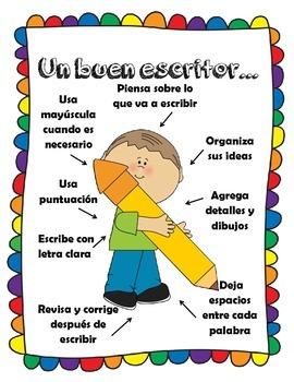 Good Writers Strategies-Un buen escritor (Spanish Only)