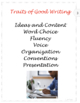 Traits of Good Writing Posters