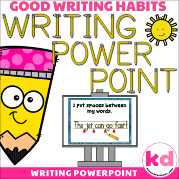 Writing POWERPOINT for Writing Sentences --- Writing Rubric / Checklist
