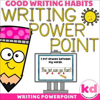 Writing POWERPOINT for Writing Sentences --- Writing Rubri