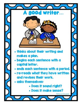 *FREE* Good Writing Habits Poster