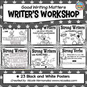 Writers Workshop - Good Writing Matters - 23 Black 'n White Posters